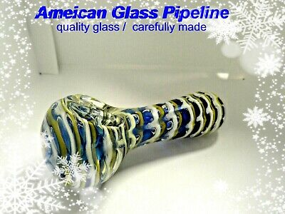 "Beautiful Hand Crafted Thick Pyrex Glass 4.5"" Hand Pipe  120 grams"