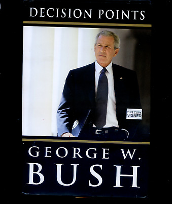 rare GEORGE W BUSH signed lstED DECISION POINTS hc book with dustcover