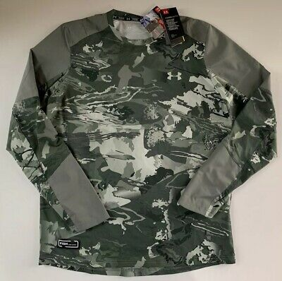 New Under Armour Men CoolSwitch Hybrid Long Sleeve Fishing Shirt 1304994 Camo M