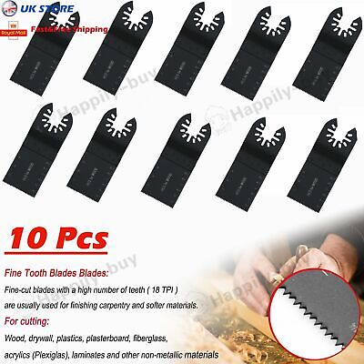 DIY Oscillating Multi Tool 34mm Universal Carbon Steel Saw Blades Cutter 10 Pack