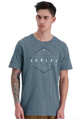 Brand New Hurley Mens Surf T-Shirt Tee Size Xxl Blue The Liner Tags Crew Neck