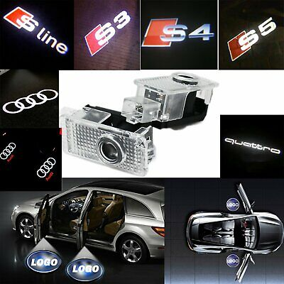 Car Door Courtesy Puddle Shadow LED Lamp Laser Projector Logo Light For AUDI