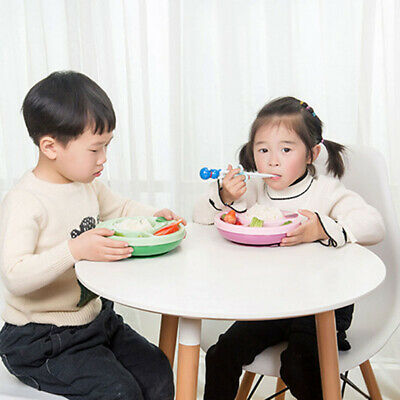 Baby Feeding Plates Food Suction Placemat Non-Slip Children Kids Dining Bowl FW