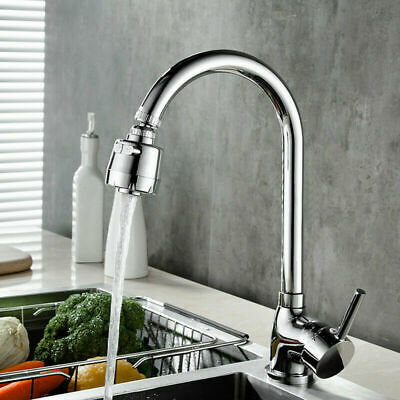 360° Rotatable Faucet Moveable Kitchen Tap Head Water Saving Filter Sprayer US