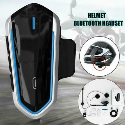 bluetooth 4.1 Étanche Sans Fil Interphone Casque de Moto Intercom Headset MP3