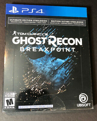 Tom Clancy's Ghost Recon Breakpoint [ ULTIMATE Edition STEELBOOK ] (PS4) NEW
