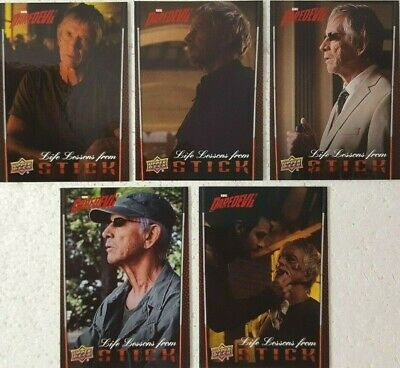 2018 UPPER DECK DAREDEVIL SEASONS 1 AND 2 Life Lessons From Stick Card Set of 5