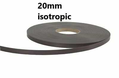 Self Adhesive Magnetic Tape 3M backing Magnet Strip 20mm x 1.5mm  choosen length
