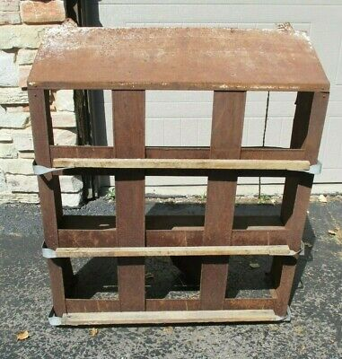 Antique Primitive Farm Rust Metal Chicken egg laying coop yard garden home decor