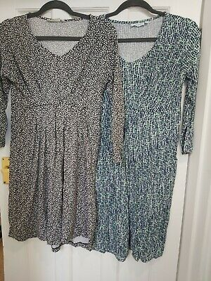 Jojo Maman Bebe Maternity Nursing Bundle Tunic dresses Size Medium