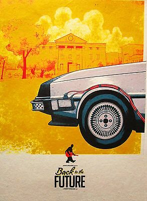 A3 Back to the future retro 80's art print poster canvas painting vintage