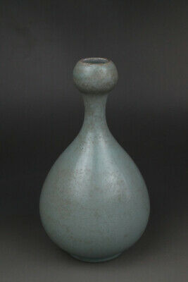 A Fine Collection of Chinese 11thC Song Ru Ware Porcelain Garlic Vases