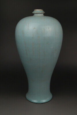 A Fine Collection of Chinese 11thC Song Ru Ware Porcelain Plum Vase