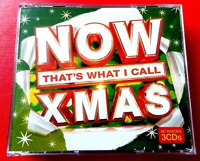 NOW THAT'S WHAT I CALL XMAS -GREEN 3 x CD  VG/EX THE WAITRESSES, ABBA, GREG LAKE