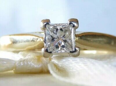 Genuine 0.40ct Diamond Cluster Ring In 18K Solid Yellow Gold