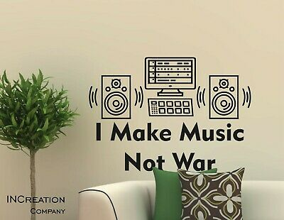 Music makes the world go round Wall Quotes Living Room Wall Stickers 50cc UK