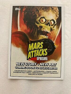 NYCC 2019 Topps Mars Attacks Uprising P1 Promo Trading Card Collectible