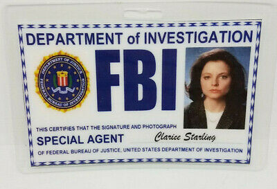 Silence Of The Lambs ID Badge - Clarice Starling (Hannibal) cosplay costume