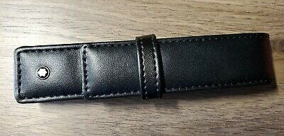 Montblanc Black Leather Pen Case New
