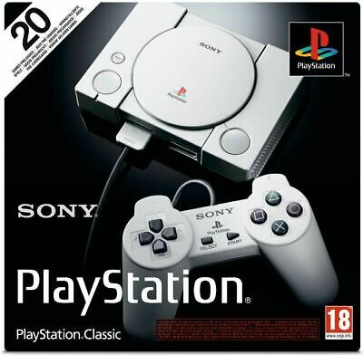 New Sealed Sony Playstation Classic Console With 20 Games And 2 Controllers