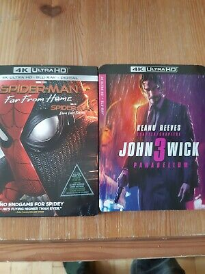 Spider Man Far From Home And John Wick Parabellum 4k Bluray Combo bilingual