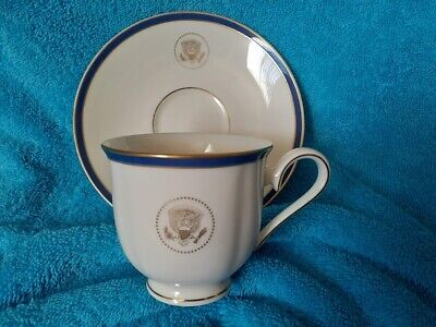 White House Presidential China Lenox - Cup & Saucer From Clinton & Bush