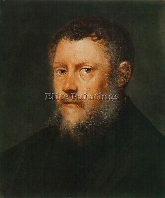 Jacopo Robusti Tintoretto Portrait Of A Man Fragment Artist Painting Handmade