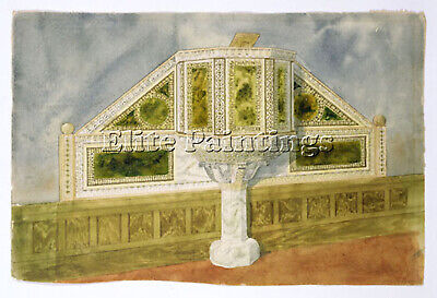 Louis Comfort Tiffany Design For A Marble Pulpit Ca 1895 1900 Painting Handmade