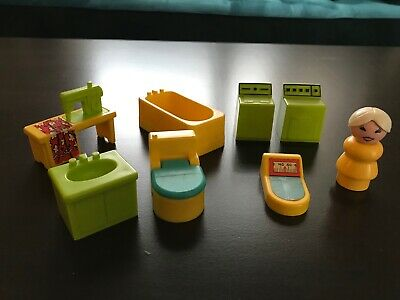 Vintage Fisher Price Little People Utility/Bathroom set!