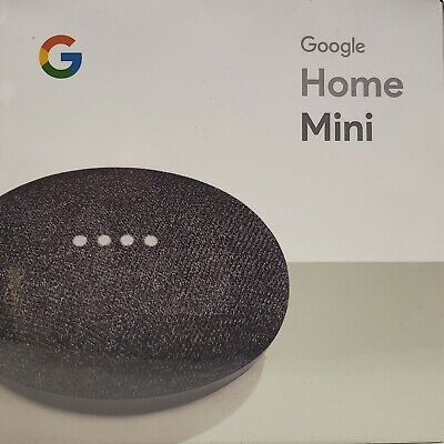 New & Sealed~Google Home Mini~Charcoal~Small & Mighty~Powered By Google Assistan