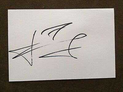 andriy shevchenko, AC Milan, Chelsea signed white index card autographed proof