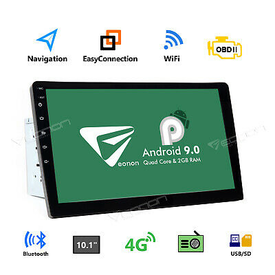 "2 Din Android 9.0 10.1""Car Stereo GPS Navi Radio WiFi Bluetooth 5.0 Touch No-DVD"