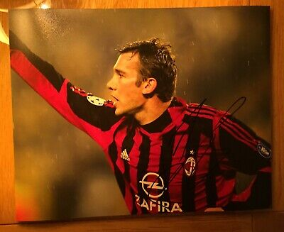 andriy shevchenko, AC Milan, Chelsea signed 8x10 photo autographed proof