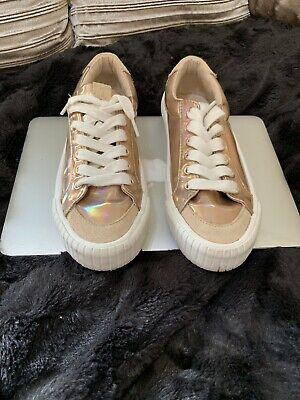 Trainers Zara Trainers/pumps Rose Gold Girls Size 4 (36) Good Condition