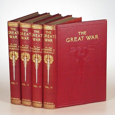 Winston S. Churchill - The Great War, Home Library binding, in four volumes