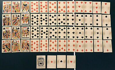Old West Civil War No Numbers Samuel Hart Playing Cards 1860 US Saloon Deck Faro
