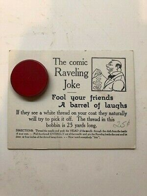1940's SS Adams White The Comic Raveling Joke NOS moc old store stock
