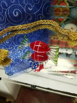 Murano Glass Candy Decorations Made in Italy