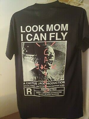 Official Travis Scott Look Mom I Can Fly T-Shirt Tee Merch Size Small Sold Out!