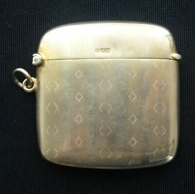 EXQUISITE ENGLISH HALLMARKED 9CT SOLID GOLD VESTA CASE, BIRMINGHAM c1938