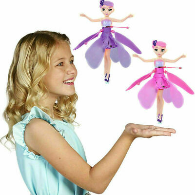 Kids Flying Fairy Toy Princess Dolls Magic Infrared Induction Control Gift I0R9Y