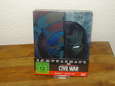 The First Avenger: Civil War 3D + 2D Blu-Ray Steelbook (Marvel) NEU&OVP