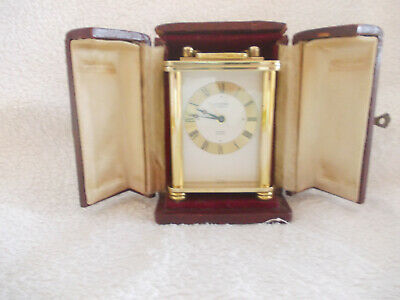 Carriage Clock Looping 15 Jewels Alarm 8 Day Sold As Spares Or Repair With Case