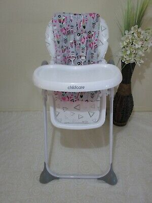 High chair liner-Feathers,pink,Handmade *new*