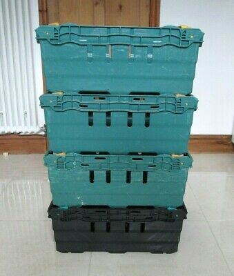 4 Bale Arm Crates Supermarket Plastic Storage Boxes COLLECTION ONLY