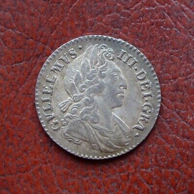 William III 1698 silver maundy fourpence