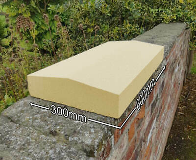 Apex Cast Stone Wall Coping Garden Ornament, Buff/Portland, 2 Sizes Available