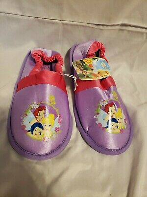 DISNEY PRINCESS CINDERELLA Size 2/3 Pink Purple CHARACTER SLIP ON SLIPPERS Girls