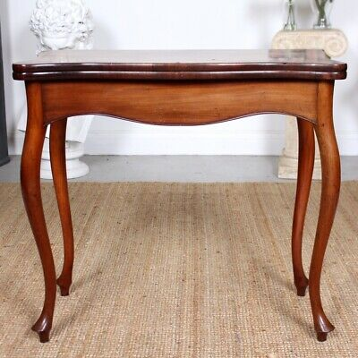Antique Turnover Card Table Folding Console Writing Table 19th Century Mahogany