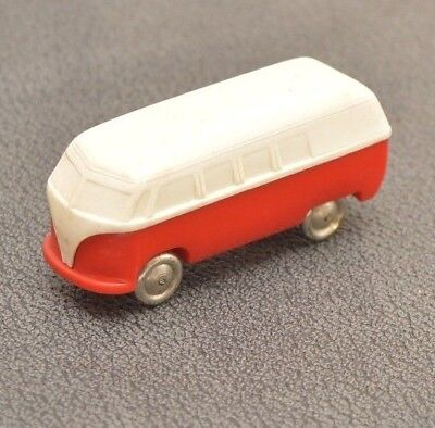 Altes LEGO Modell Auto VW Bus Bulli T1 rot - weiss unverglast Fach F5